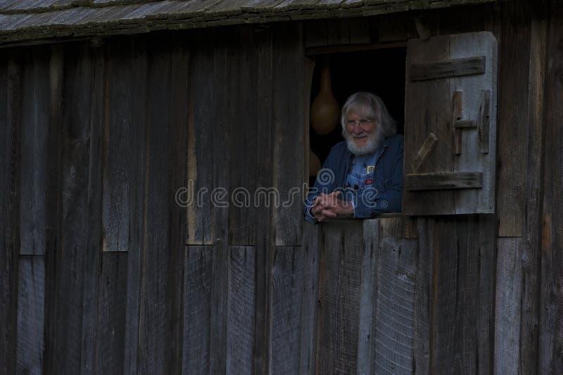 Mulino del grano da macinare in valle della baia di Cades in Tennessee Smoky Mountains fotografie stock