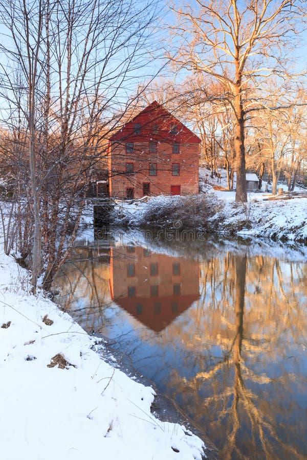 Mulino di funzionamento di Colvin, Great Falls, la Virginia fotografia stock libera da diritti
