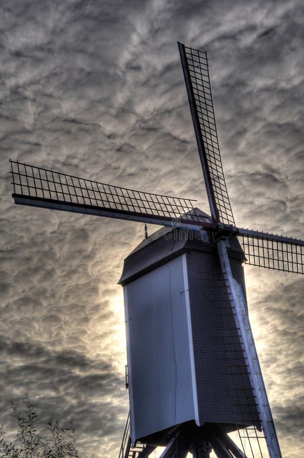 Mulino di vento fotografia stock