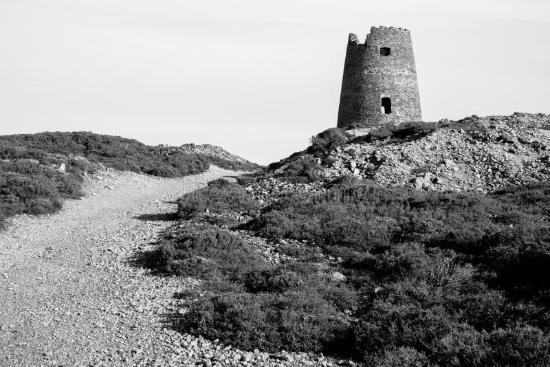 Mulino in disuso alla montagna di Parys immagini stock libere da diritti