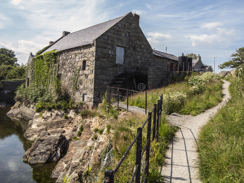 Mulino Irlanda di Annalong fotografia stock libera da diritti