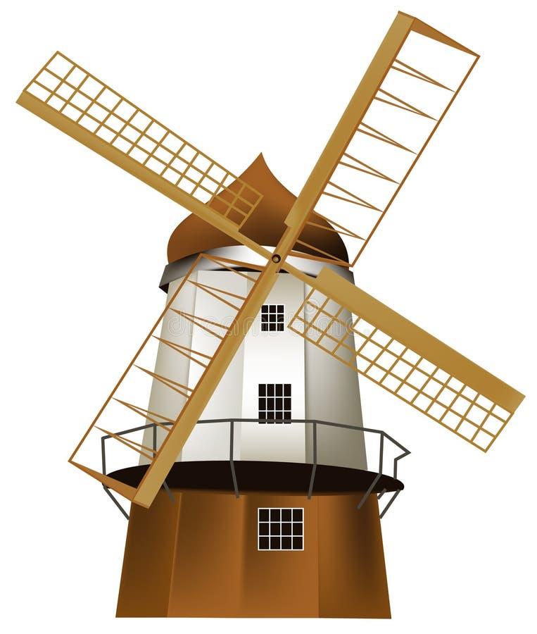Mulino a vento illustrazione di stock