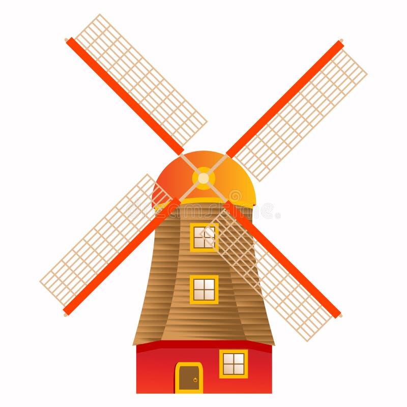 Mulino a vento illustrazione vettoriale