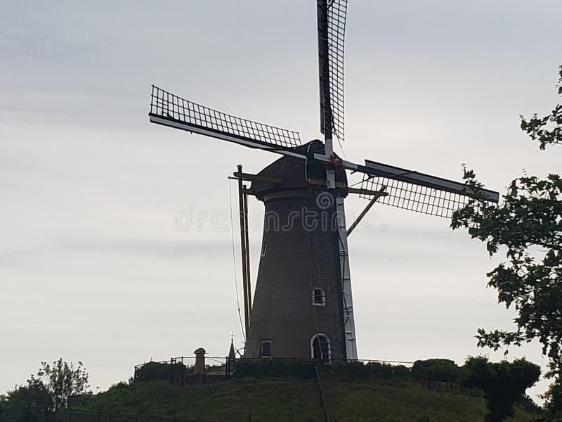 Mulino a vento a Amsterdam fotografia stock libera da diritti