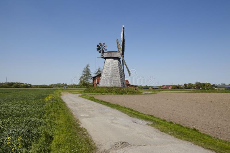 Mulino a vento Bierde Petershagen, Germania fotografia stock