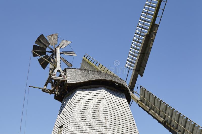 Mulino a vento Bierde Petershagen, Germania fotografia stock libera da diritti