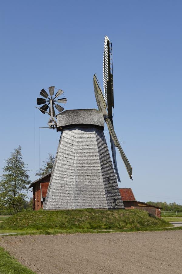 Mulino a vento Bierde Petershagen, Germania immagine stock
