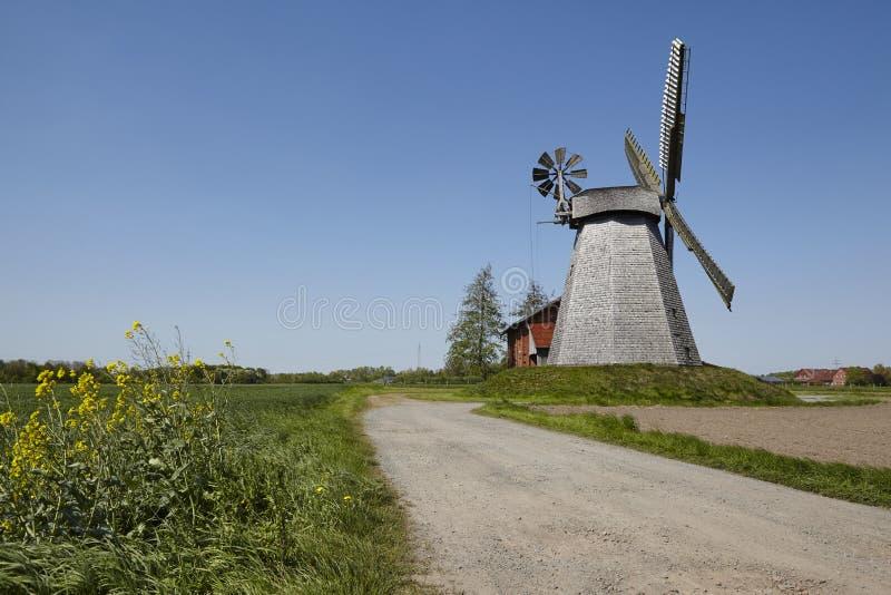 Mulino a vento Bierde Petershagen, Germania immagine stock libera da diritti