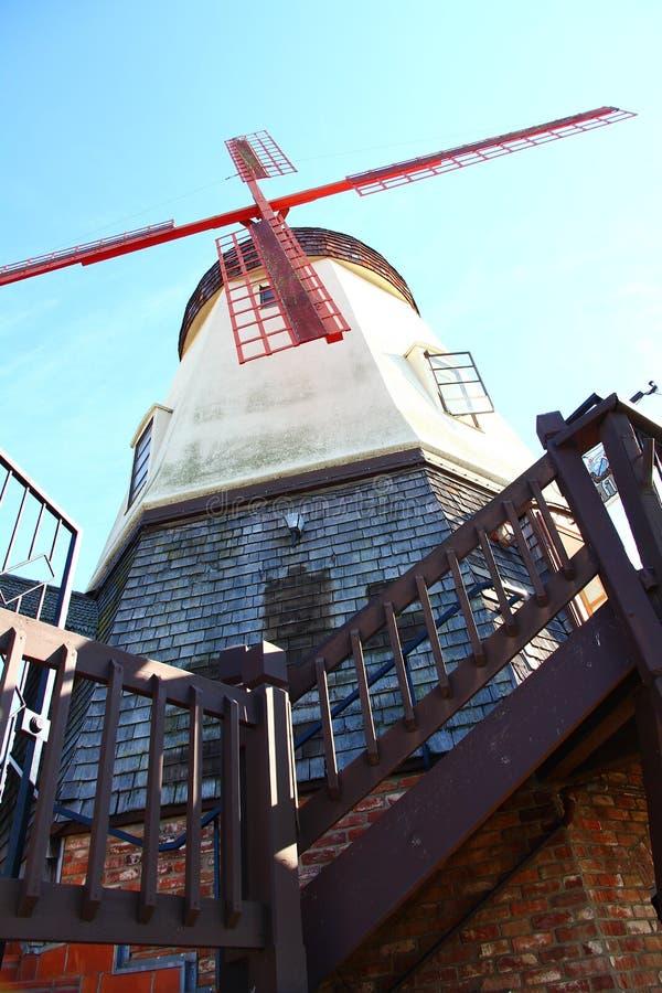 Mulino a vento danese di stile fotografia stock libera da diritti