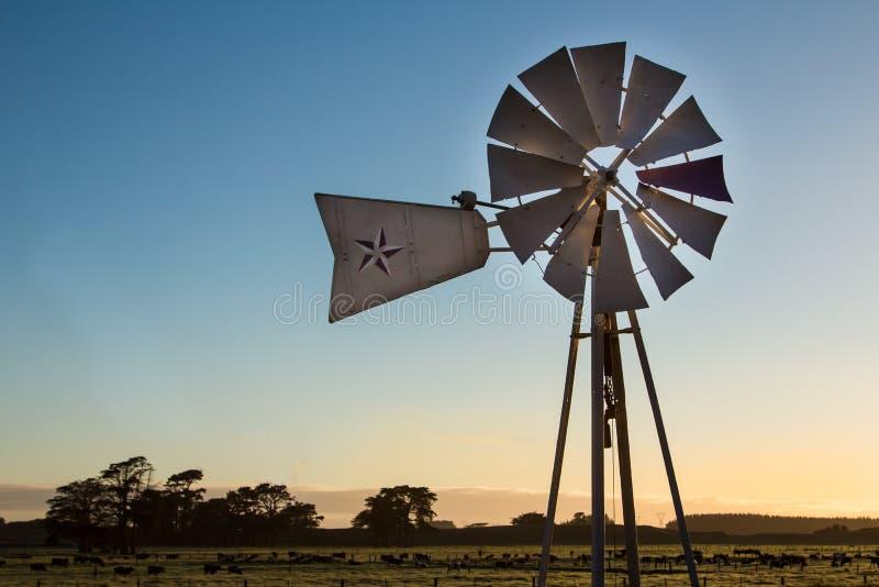 Mulino a vento dell'azienda agricola immagini stock libere da diritti