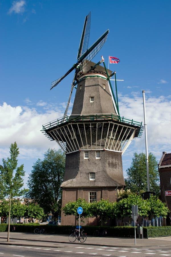 mulino a vento di Amsterdam fotografie stock libere da diritti