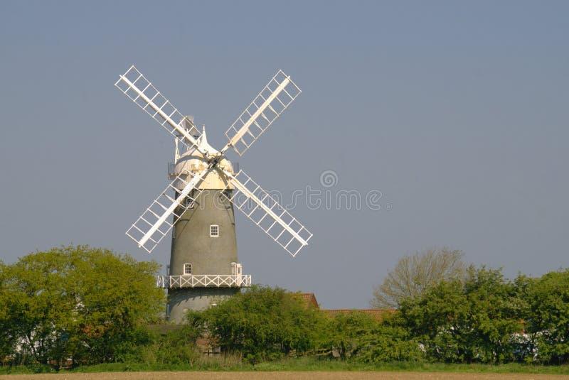 Mulino a vento di Bircham in Norfolk Regno Unito immagini stock libere da diritti