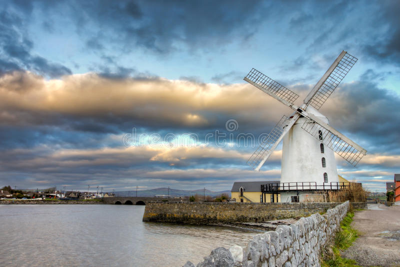 Mulino a vento di Blenerville in Tralee in Irlanda. fotografia stock