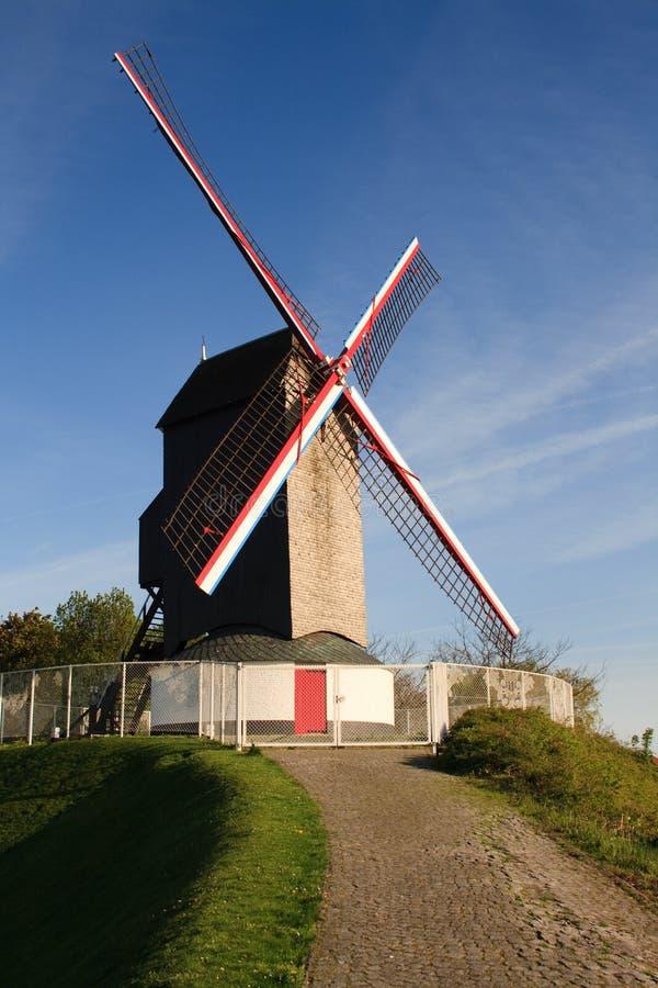Mulino a vento di Bruge fotografia stock