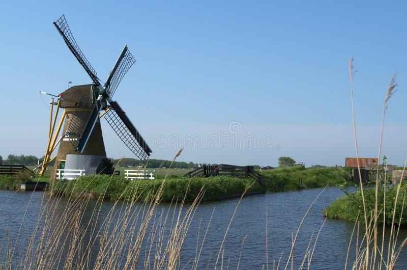 Mulino a vento di Doet Leven del cerchio, Voorhout, Paesi Bassi fotografia stock libera da diritti