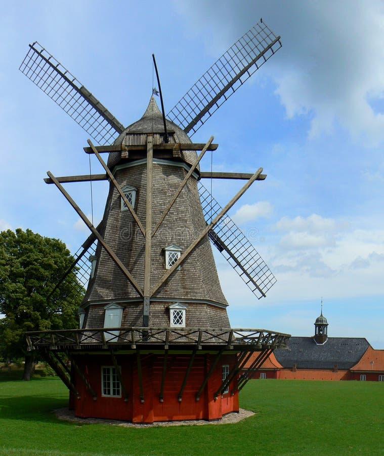 Mulino a vento di Kastellet a Copenhaghen immagine stock libera da diritti