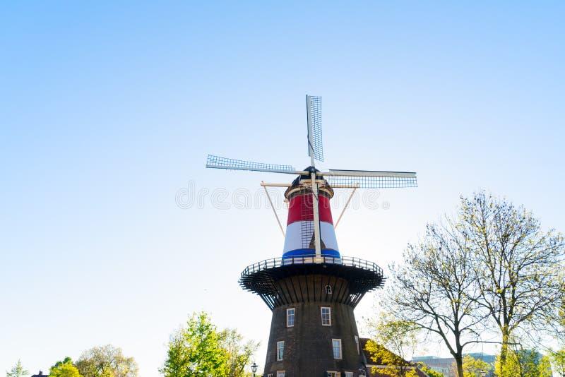 Mulino a vento di Leida fotografia stock