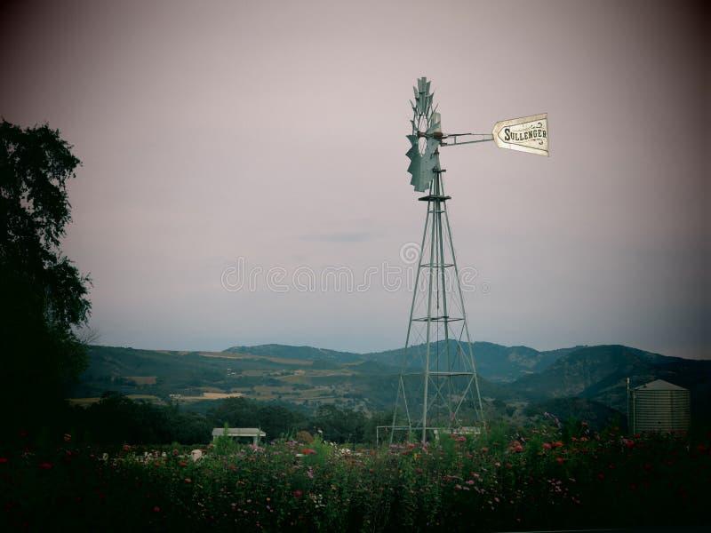 Mulino a vento di Napa Valley fotografie stock libere da diritti