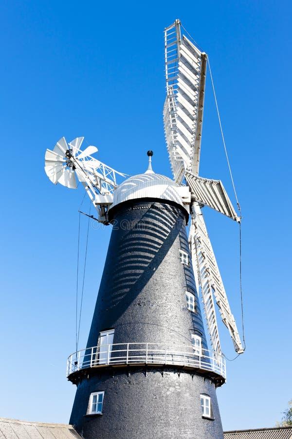 mulino a vento in Heckington, East Midlands, Inghilterra fotografia stock libera da diritti