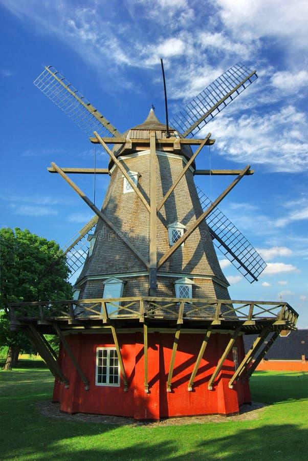 Mulino a vento a Kastellet, Copenhaghen, Danimarca immagine stock
