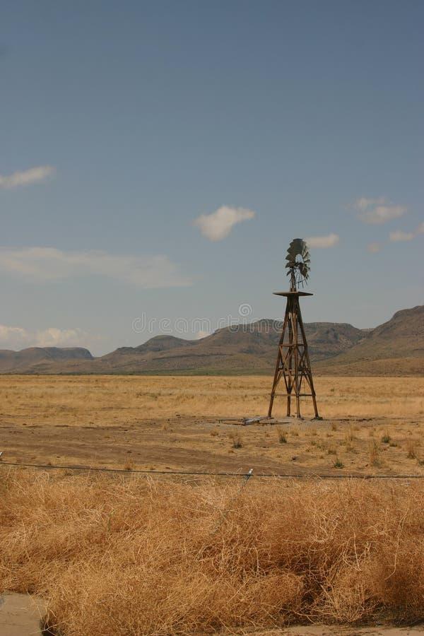 Mulino a vento nel Texas fotografia stock libera da diritti