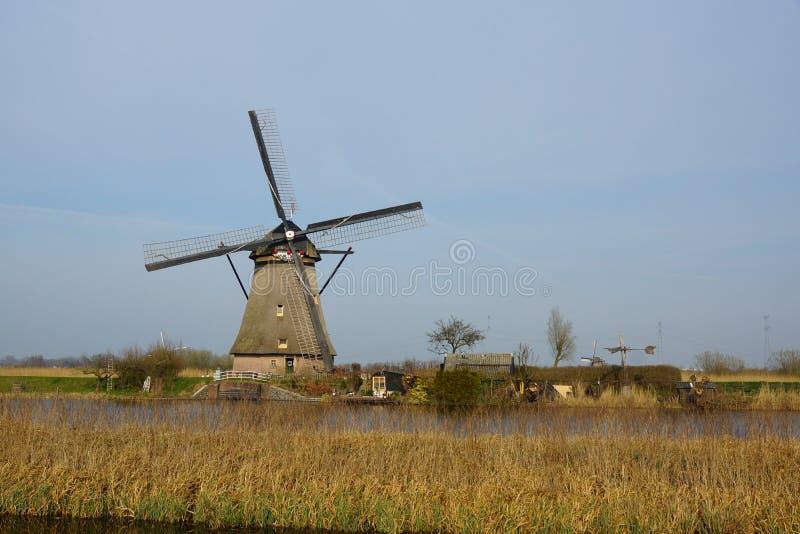 Mulino a vento in Olanda fotografia stock