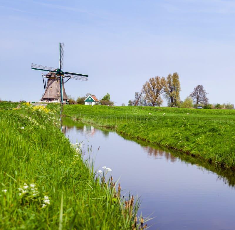 Mulino a vento olandese. I Paesi Bassi fotografie stock