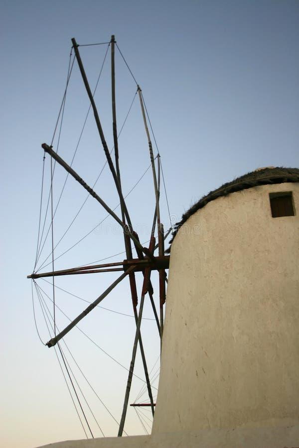 Mulino a vento in Rodi, Grecia immagine stock libera da diritti