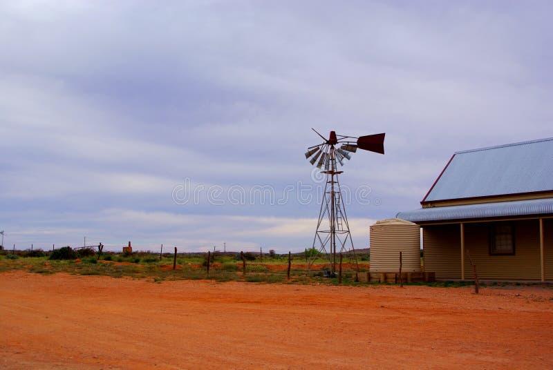 Mulino a vento rotto, Silverton fotografia stock libera da diritti