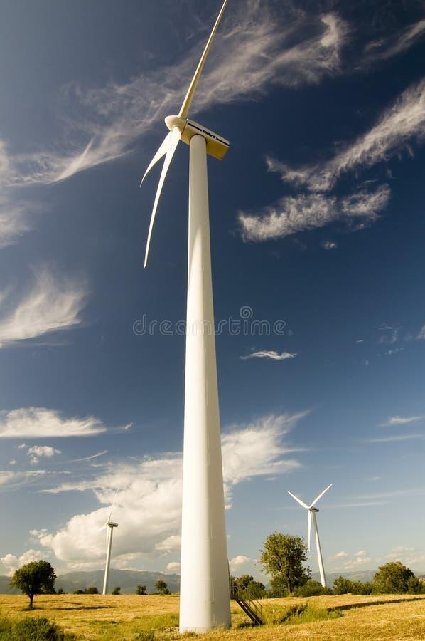 Mulino a vento verticale fotografia stock
