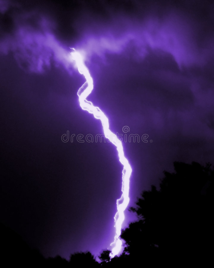 Mulitple Bolts Of Lightning stock images