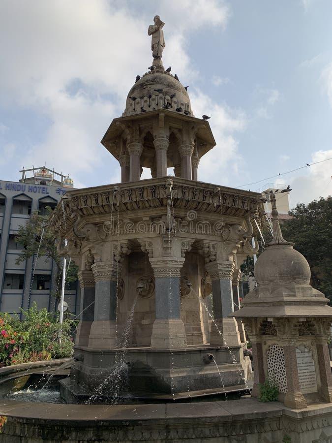 Mulji Jetha springbrunn, Mumbai, Indien arkivfoto