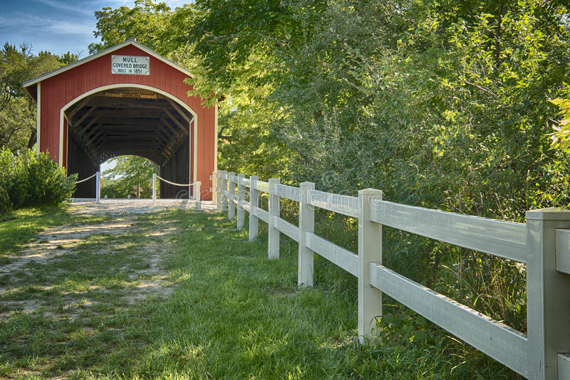 Mull covered bridge stock photography