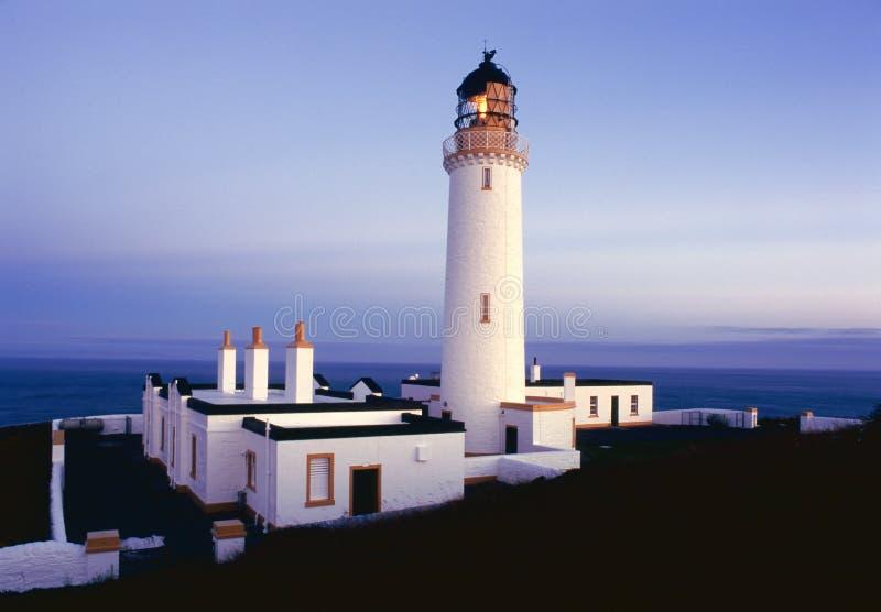 Mull of Galloway lighthouse at dusk, Scotland stock photos