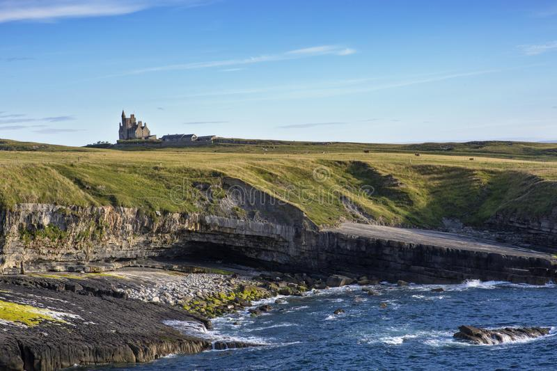 Mullaghmore Castle Co. Sligo,. Mullaghmore Castle, Co. Sligo, Ireland Europe royalty free stock photos