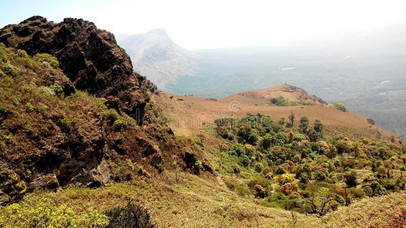 Mullayanagiri mountain peak, India stock images