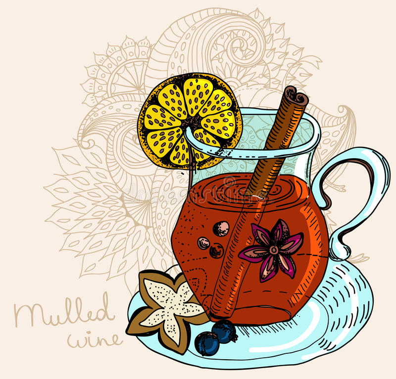 Download Mulled Warm Wine Background Stock Vector - Image: 27782719