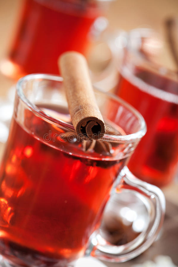 Download Mulled wine stock image. Image of glass, decorated, advent - 21377659