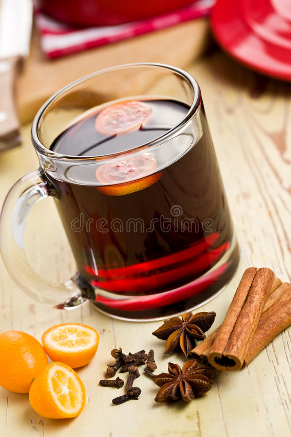 Download Mulled wine stock photo. Image of grog, bright, cinnamon - 22375978