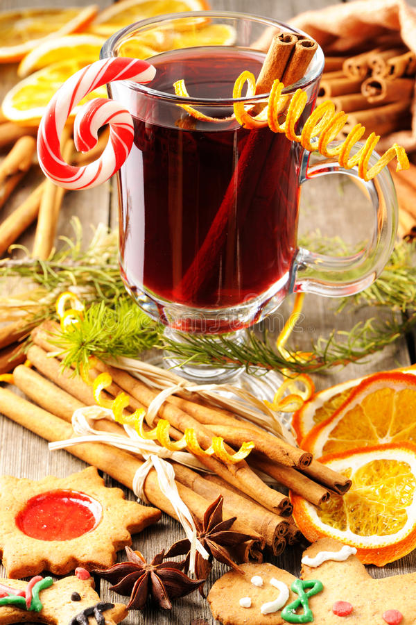 Download Mulled wine stock photo. Image of spiced, glass, food - 27400448