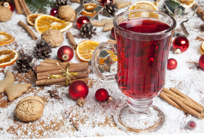 Download Mulled wine stock photo. Image of decorations, closeup - 27522612