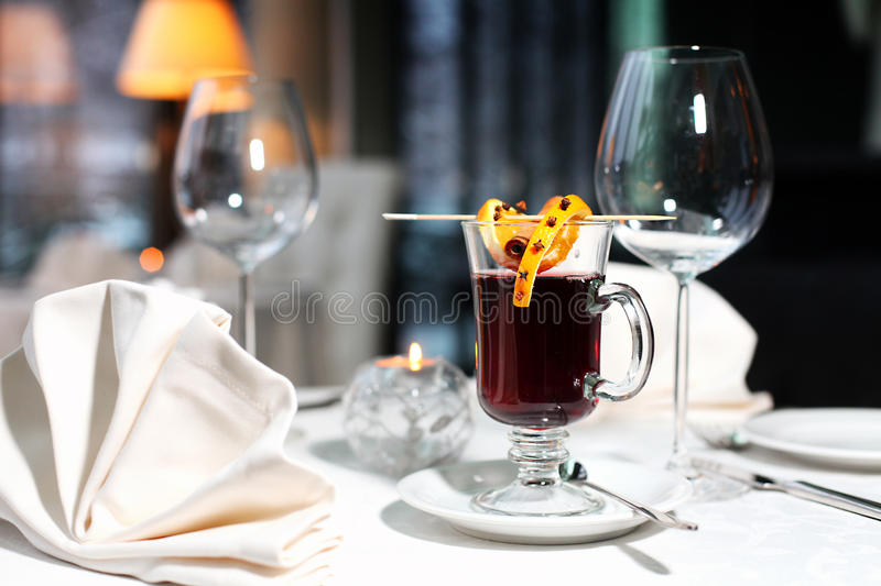 Download Mulled wine stock photo. Image of elegance, plate, up - 27999082