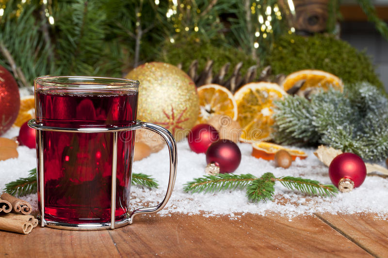 Mulled Wine At Christmas Royalty Free Stock Image