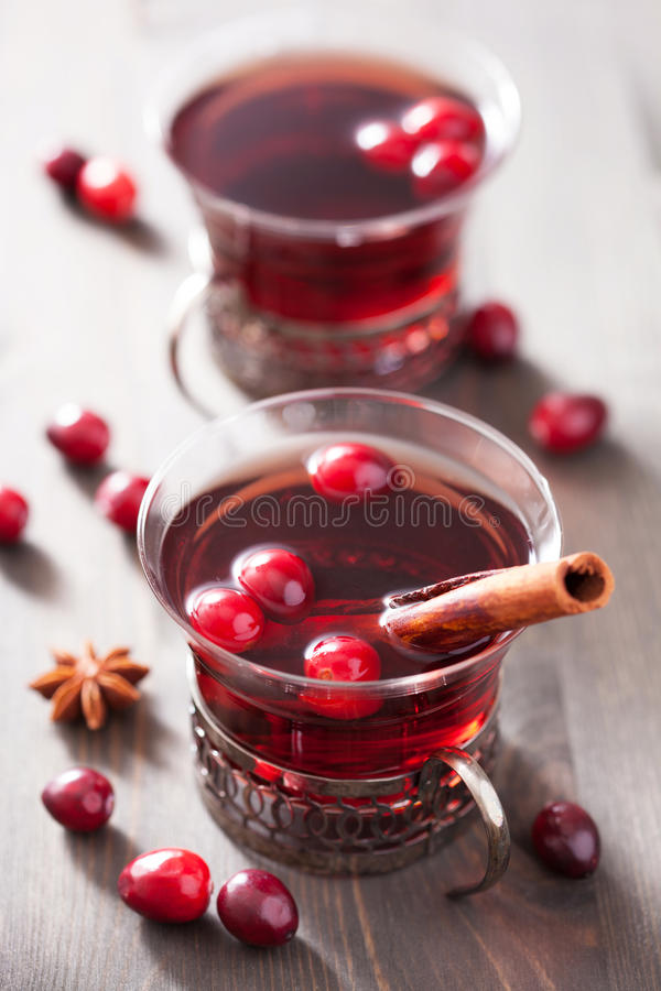 Download Mulled Wine With Cranberry And Spices Stock Photo - Image: 35870016