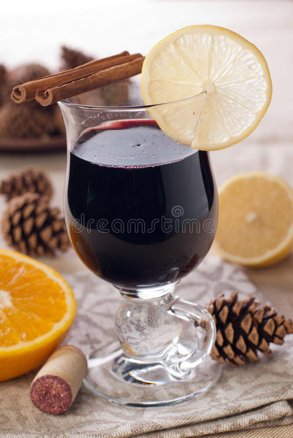 Mulled wine with french plums