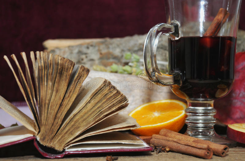 Download Mulled wine with spices stock image. Image of wooden - 32357397