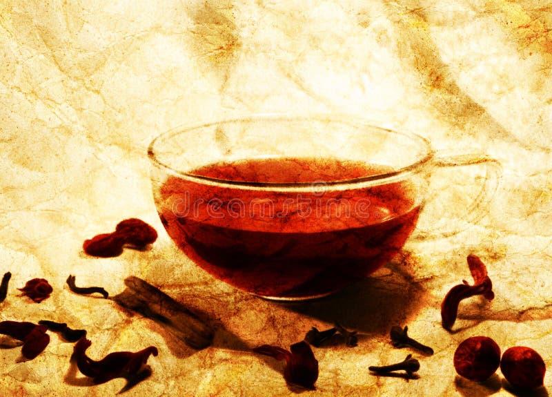 Mulled wine still life vector illustration