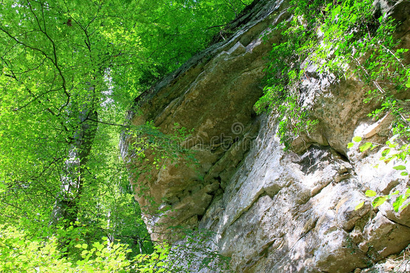 Mullerthal Trail, Schiessentumpel Waterfall, Luxembourg. Amazing nature of the Mullerthal Trail and Schiessentumpel Waterfall in Luxembourg stock photography