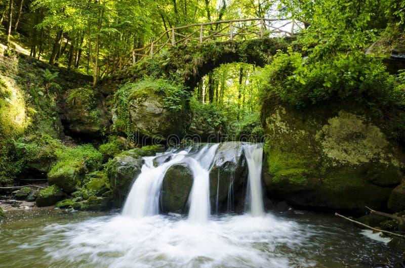 Mullerthal trail stone bridge stock image