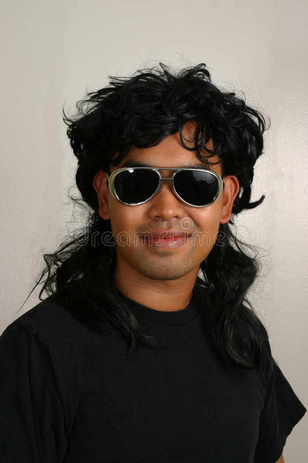 Mullet Man stock images